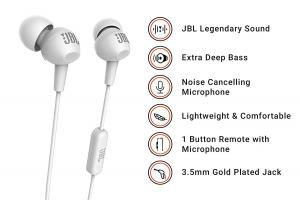 JBL C100SI In-Ear Headphones with Mic