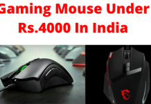 Best gaming mouse under 4000 In India