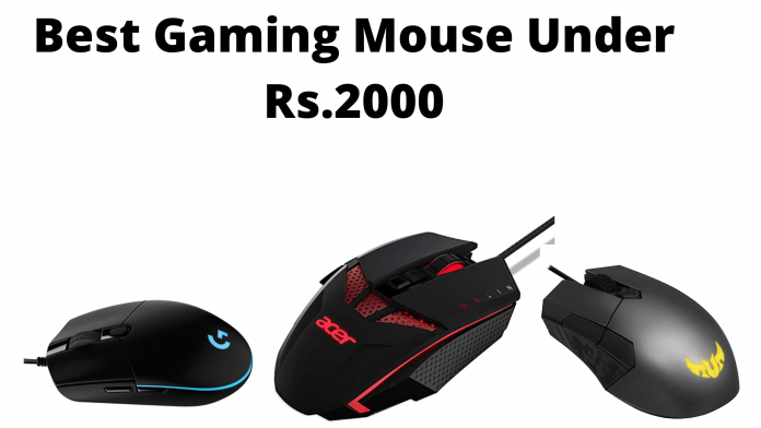 Best Gaming Mouse Under 2000 In India